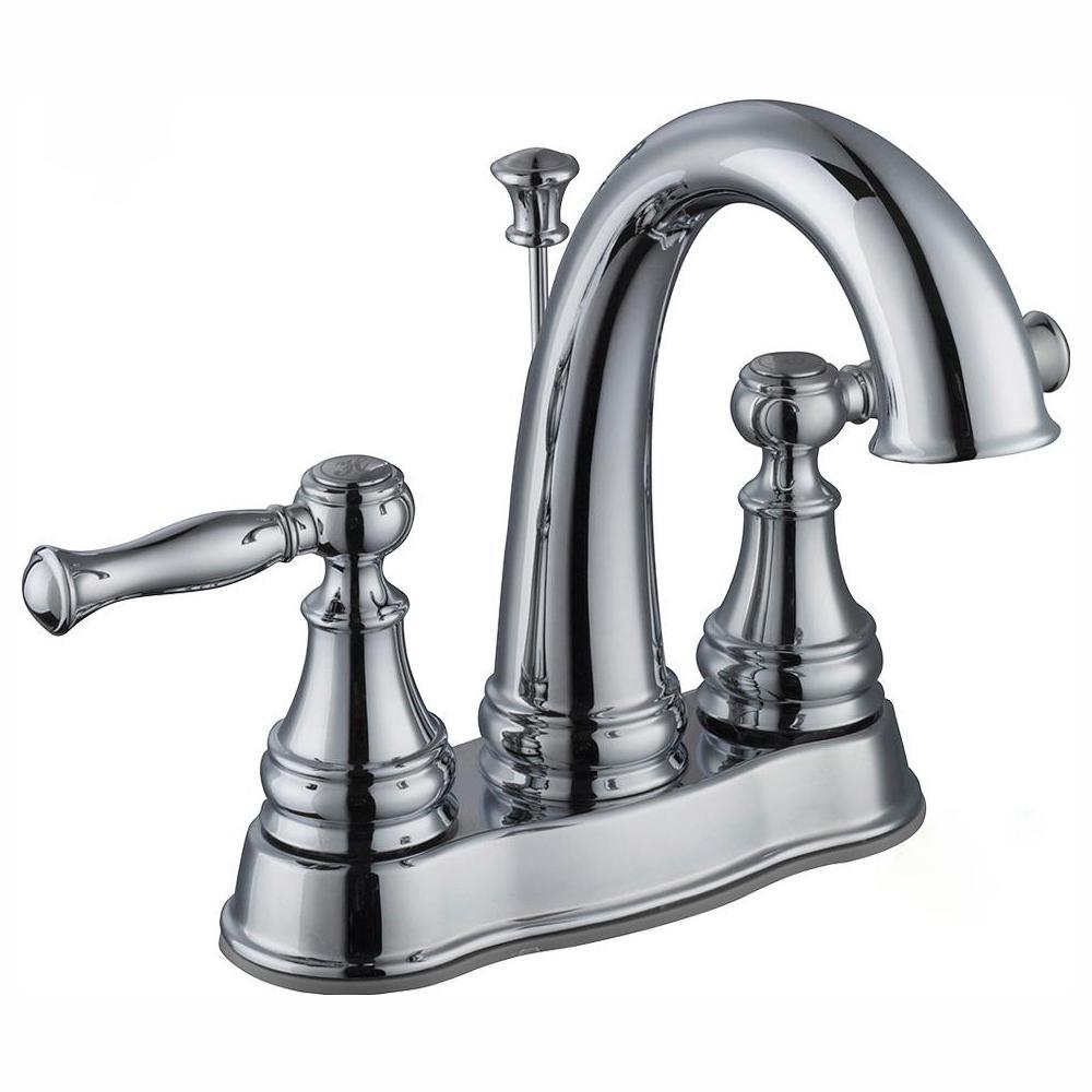Fairway 4 in. Centerset 2-Handle High-Arc Bathroom Faucet in Chrome