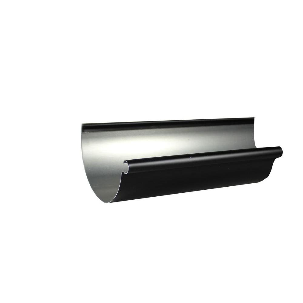 Spectra Metals 6 in. x 10 ft. Half Round Black Aluminum Gutter