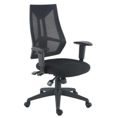 Benicia Office Black Chair in Soft-Touch Fabric