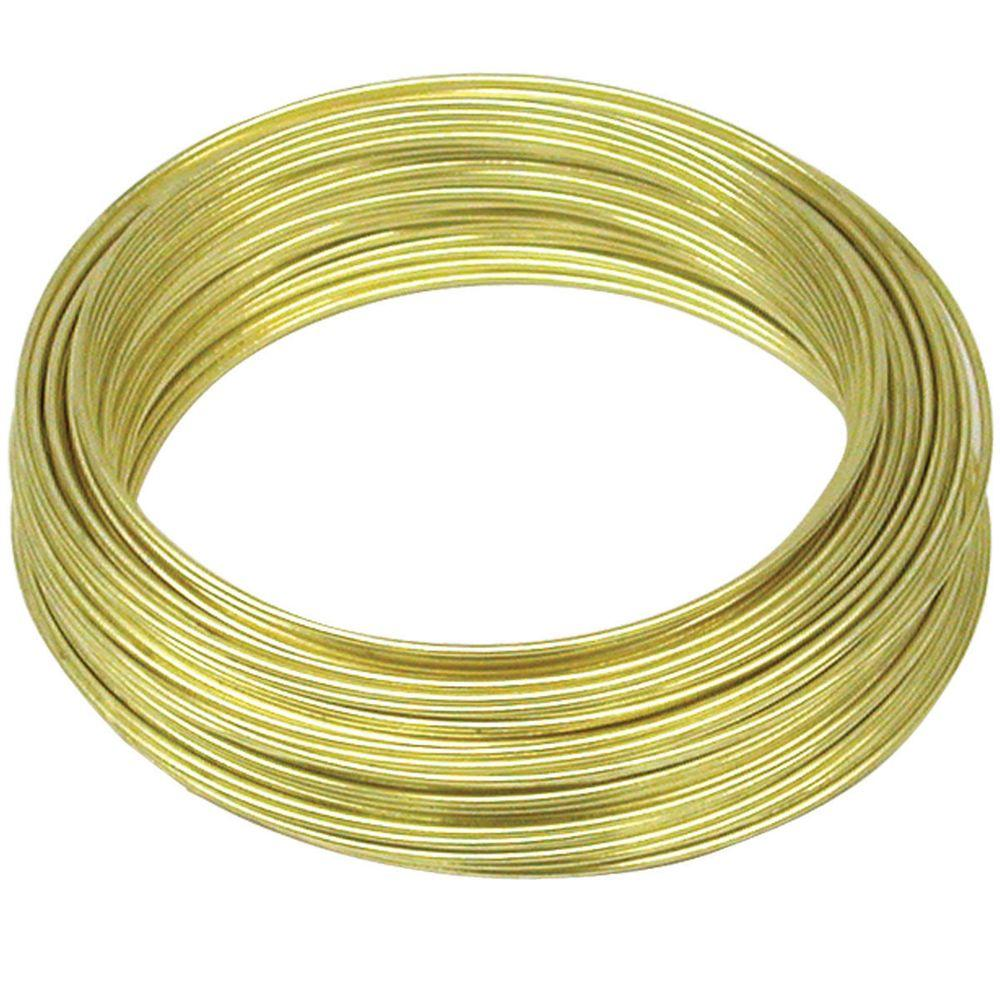 OOK 22 Gauge, 75ft Brass Hobby Wire-50152 - The Home Depot