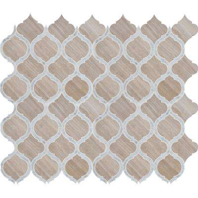 White Quarry Savona 10.89 in. x 12.80 in. x 10mm Honed Marble Mesh-Mounted Mosaic Tile (9.7 sq. ft. / case)