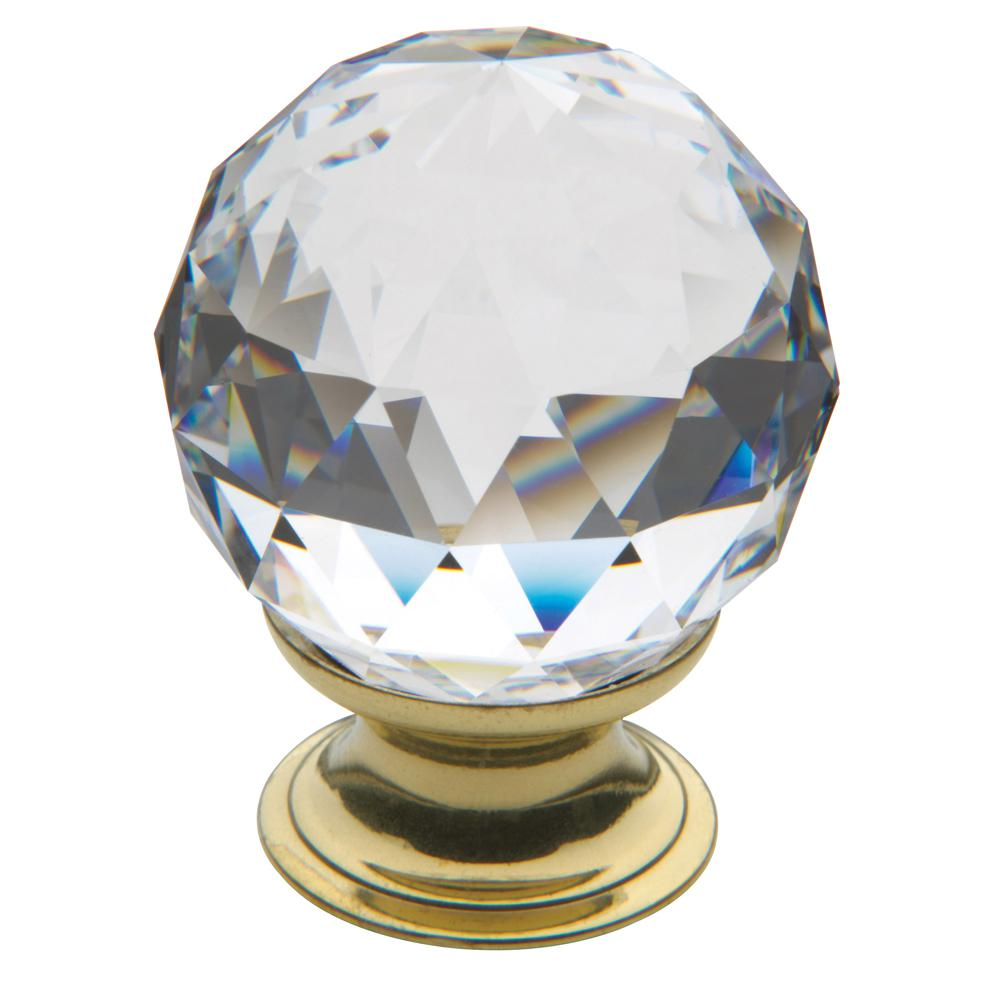 Baldwin 1 56 In Polished Brass Swarovski Crystal Knob