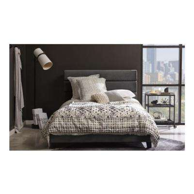 All-in-One Rave Thunder Queen Upholstered Bed