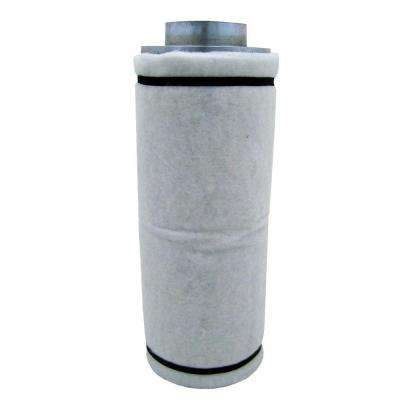 6 in. Carbon Air Filter with Flange 125-250 CFM Exhaust