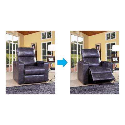 Larson Magnetite Leather Recliner
