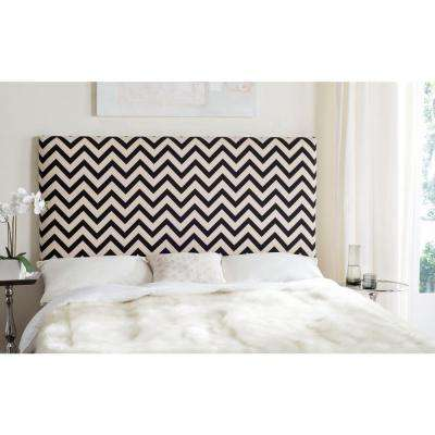 Ziggy Black and White King Headboard