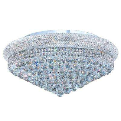 Empire 15-Light Chrome with Clear Crystal Ceiling Light