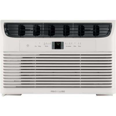6,000 BTU Window-Mounted Room Air Conditioner with Remote Control in White