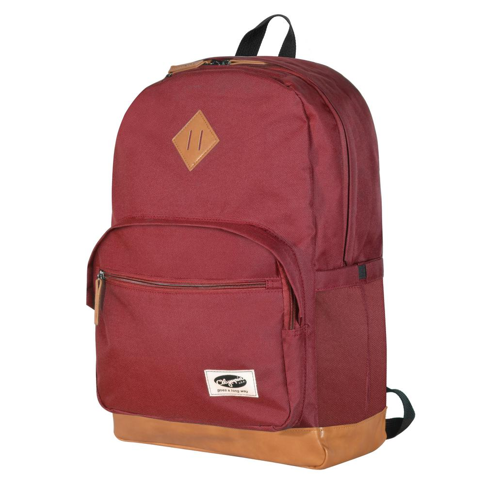 bb4ee86ef33d Olympia USA Element 18 in. Maroon Backpack-BP-2700-MRN - The Home Depot