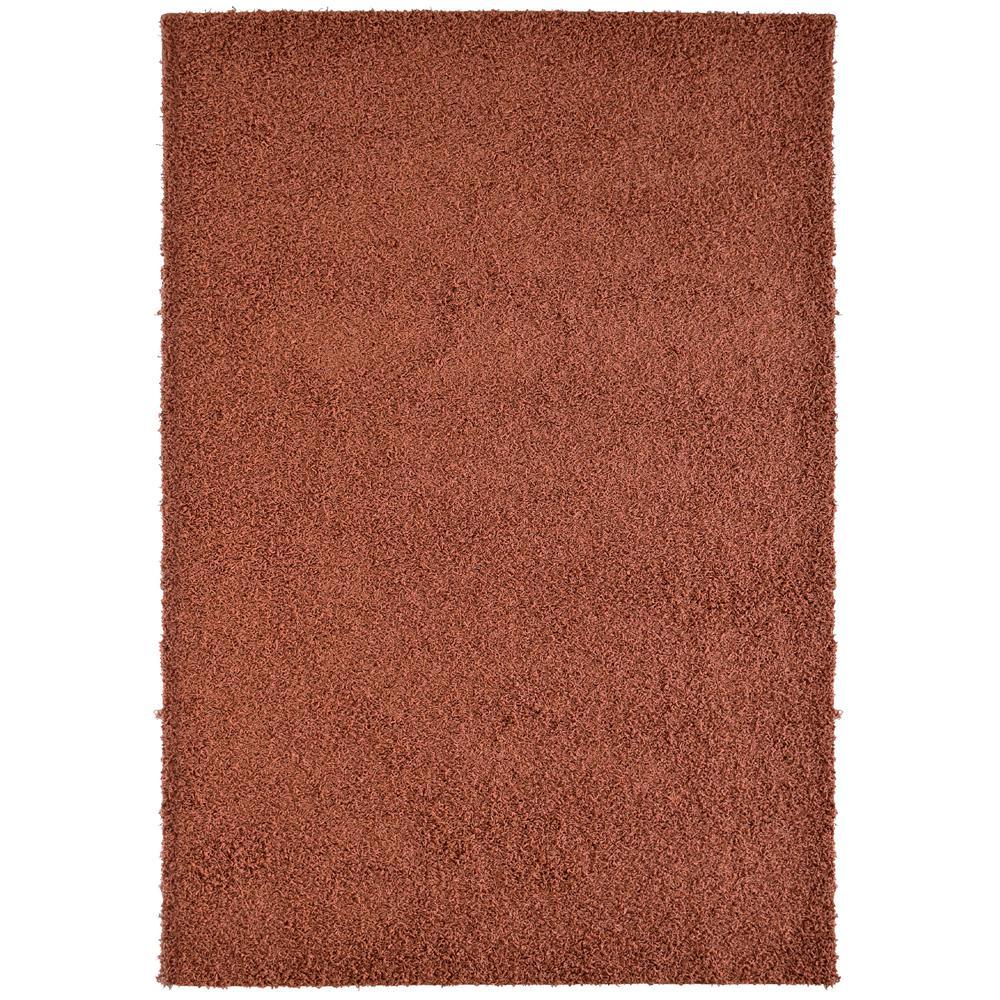 lanart custom shag rust orange 6 ft. x 8 ft. indoor area rug