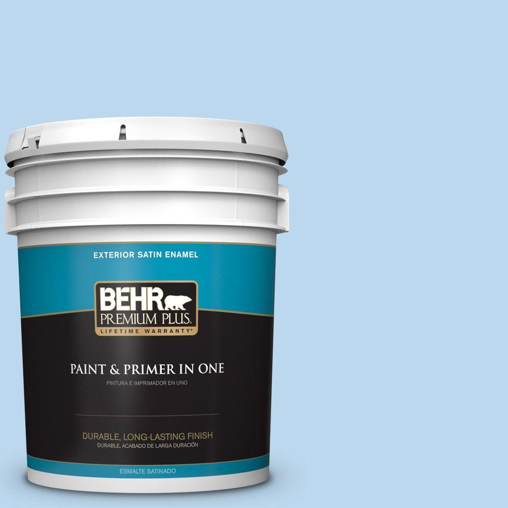 5-gal. #P520-1 First Rain Satin Enamel Exterior Paint