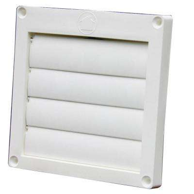 4 in. Louvered Plastic Exhaust Hood with Snap Ring