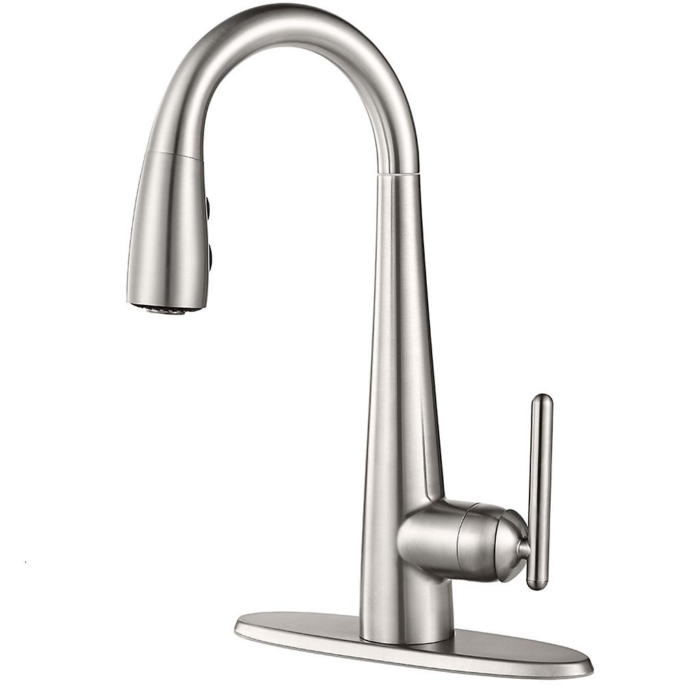 Pfister Lita Single-Handle Bar Faucet in Stainless Steel-GT72-SMSS ...
