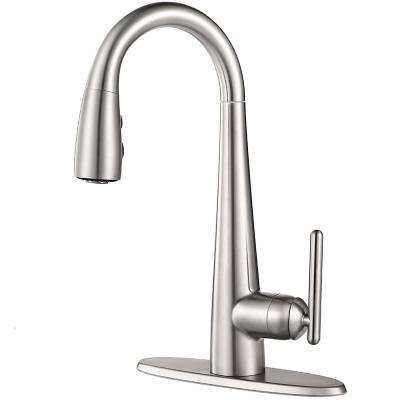 Lita Single-Handle Pull-Down Bar Faucet in Stainless Steel