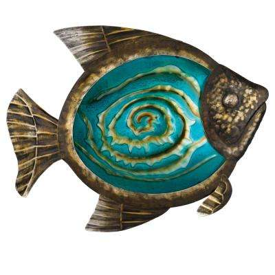 17 in. Bronze Fish Wall Dcor