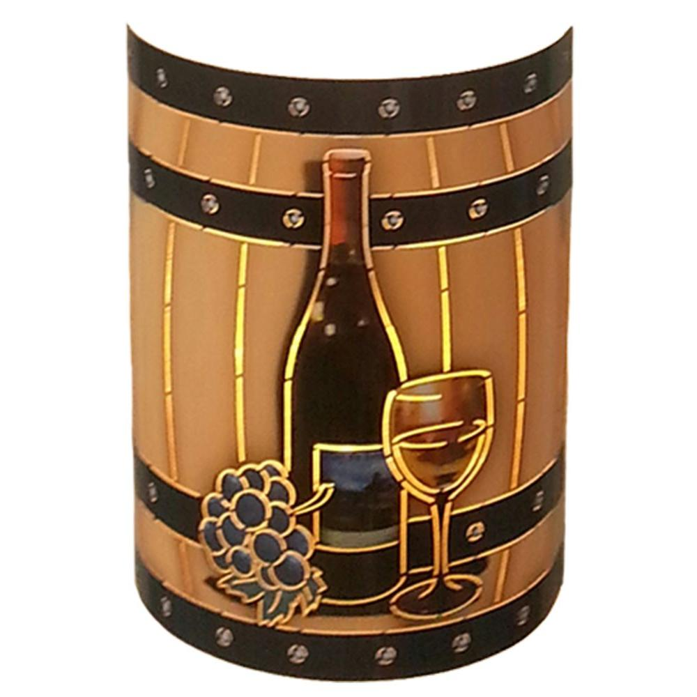 Filament Design Aspen 1 Light Outdoor Multicolored Wine Barrel Wall