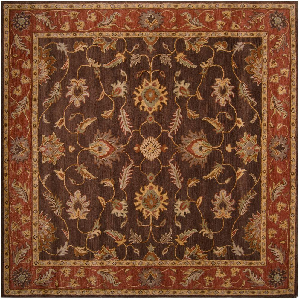 John Brown 4 ft. Square Area Rug
