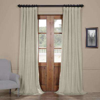 Blackout Signature Cool Beige Blackout Velvet Curtain - 50 in. W x 96 in. L (1 Panel)