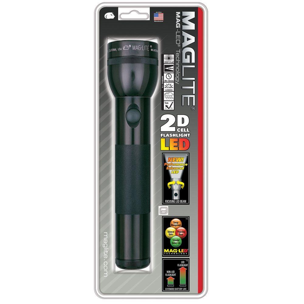 Black LED 2D Flashlight