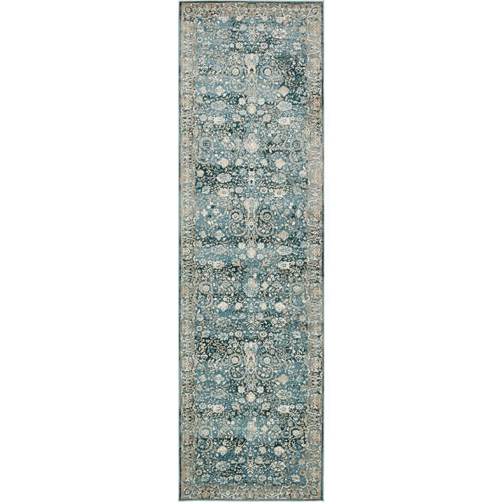 Unique Loom Cambridge Coronado Dark Blue 3' 0 x 10' 0 Runner Rug