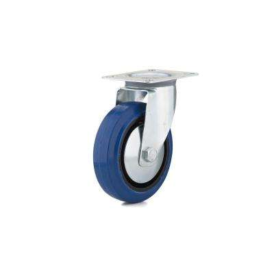 4-29/32 in. Blue Swivel Without Brake plate Caster, 220.5 lb. Load Rating