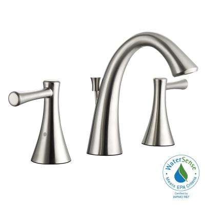 Venue 8 in. Widespread 2-Handle High-Arc Bathroom Faucet in Brushed Nickel