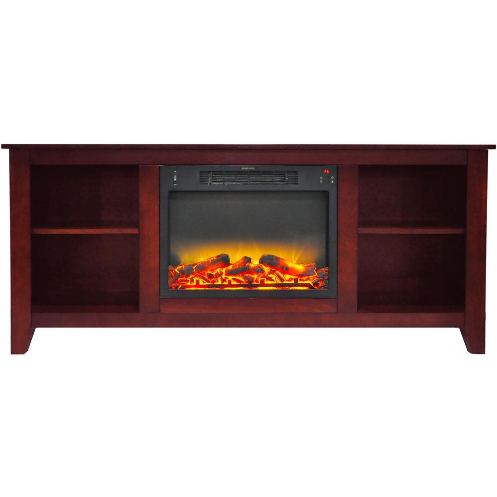 Santa Monica 63 in. Electric Fireplace and Entertainment Stand in Cherry