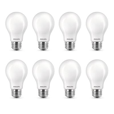 40-Watt Equivalent A19 Dimmable with Warm Glow Dimming Effect Energy Saving LED Light Bulb Soft White (2700K) (8-Pack)