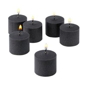 Light In The Dark 10 Hour Black Unscented Votive Candle (Set of 72) by Light In The Dark