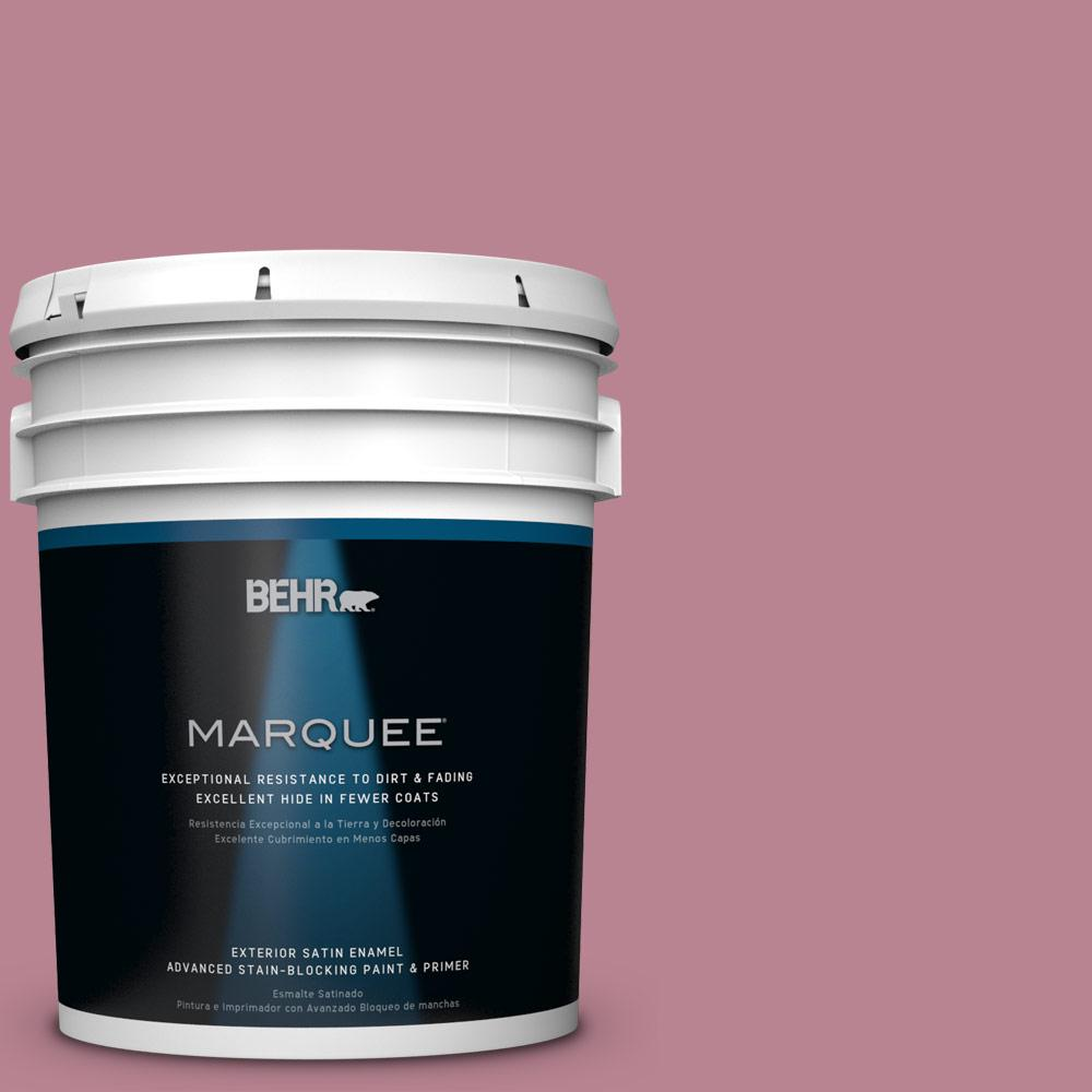 BEHR MARQUEE 5-gal. #BIC-19 Berry Blush Satin Enamel Exterior Paint