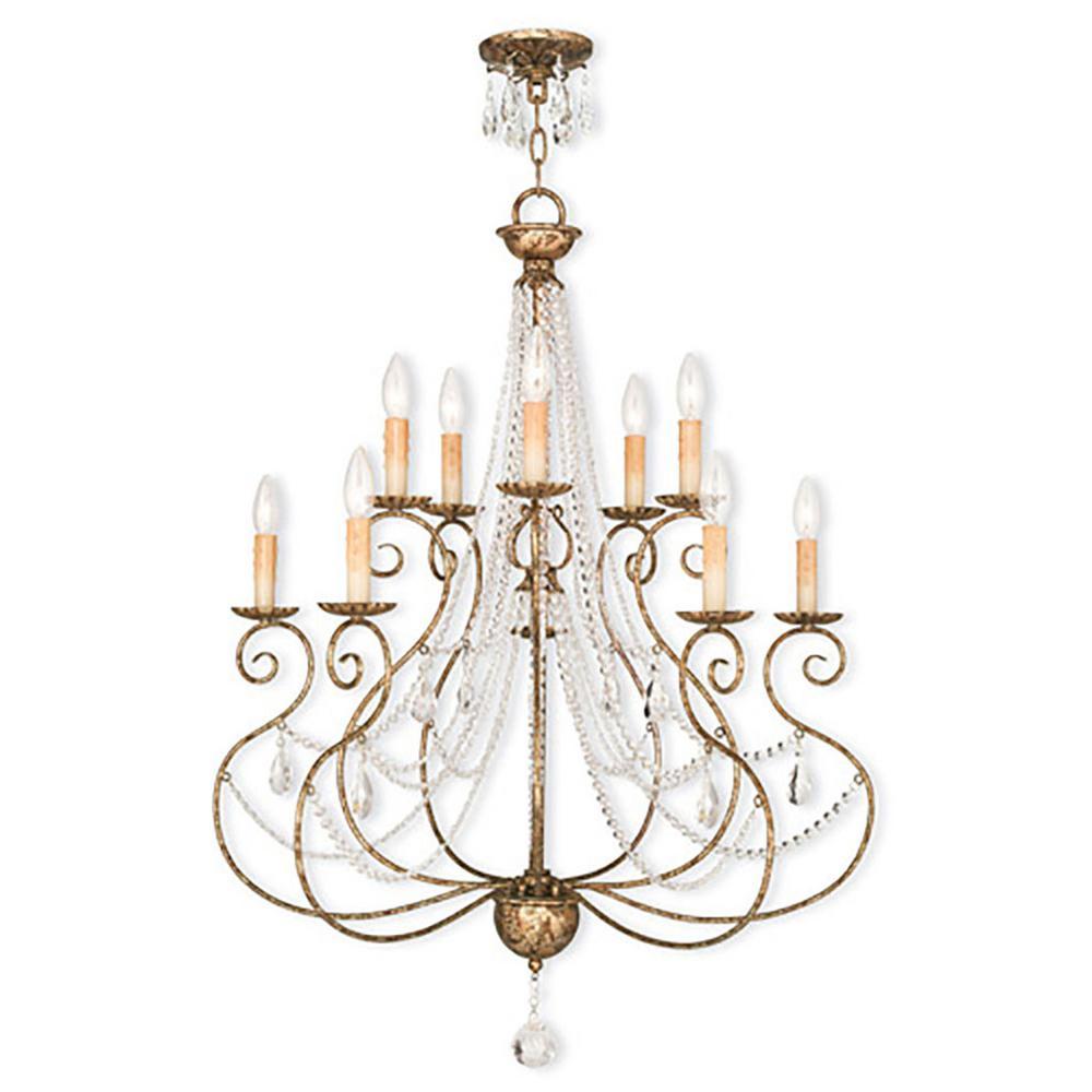 Euro Chandelier Lighting: Livex Lighting Isabella 10-Light European Bronze