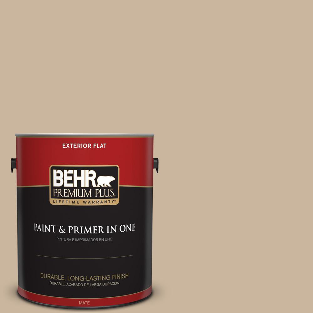 1 gal. #PPU4-07 Mushroom Bisque Flat Exterior Paint