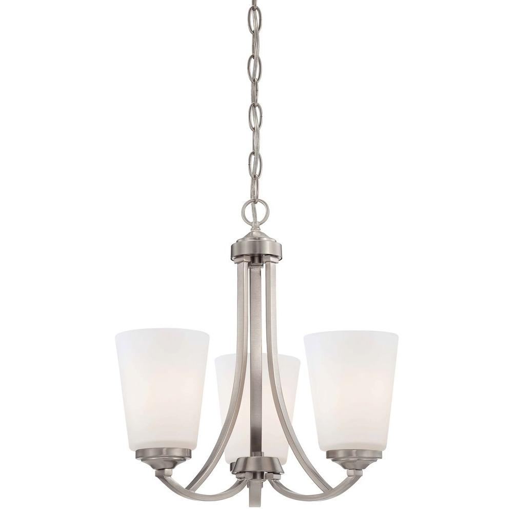 Minka lavery savannah row 6 light brushed nickel chandelier 3336 84 overland park 3 light brushed nickel mini chandelier arubaitofo Choice Image