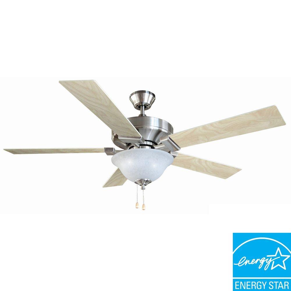 Design house ironwood 52 in satin nickel ceiling fan 154070 the design house ironwood 52 in satin nickel ceiling fan 154070 the home depot mozeypictures Choice Image