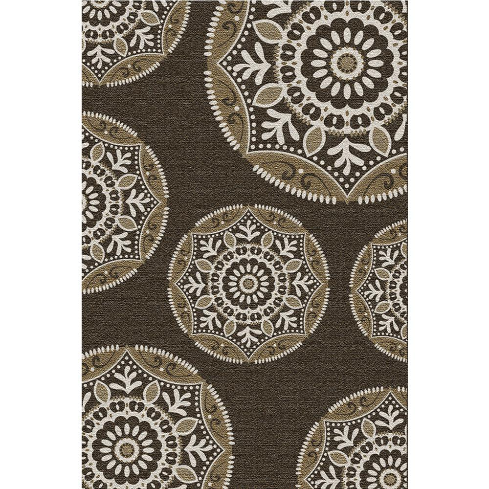 Hampton Bay Coastal Medallion Brown 7 Ft X 11 Indoor Outdoor Area