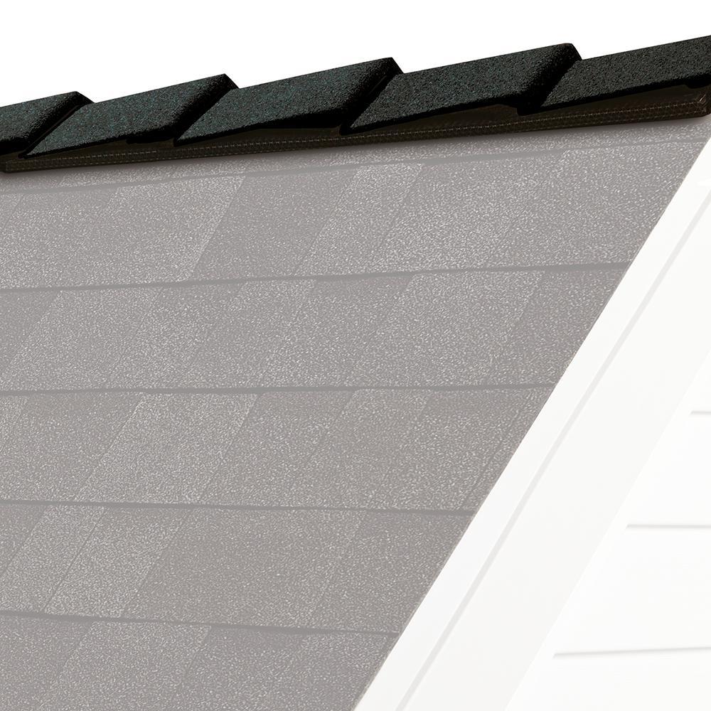 Owens Corning DecoRidge 10 in  Onyx Black Hip and Ridge Asphalt Roofing  Shingles (20 linear ft  per Bundle)-DT01 - The Home Depot