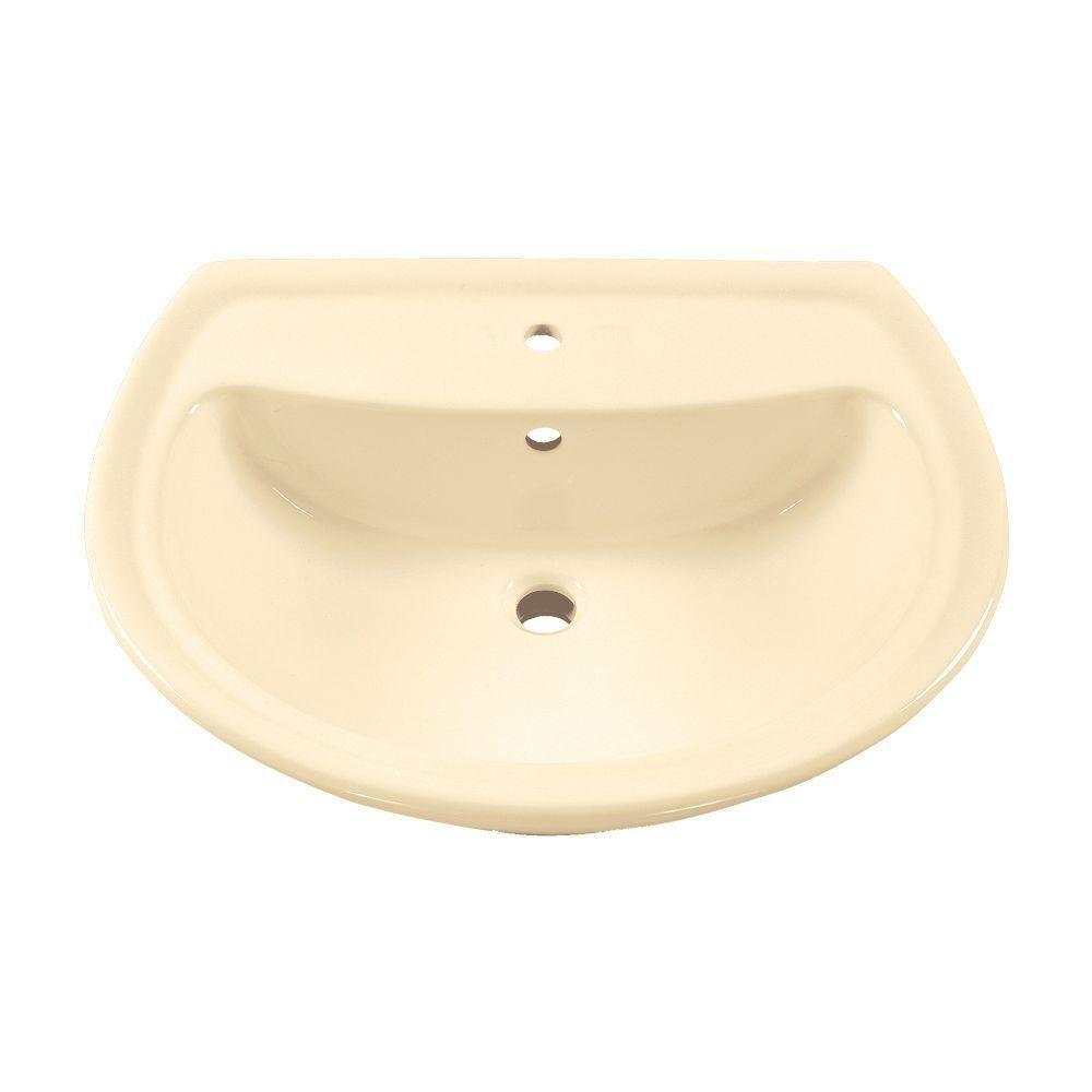 Cadet 6 in. Pedestal Sink Basin in Bone