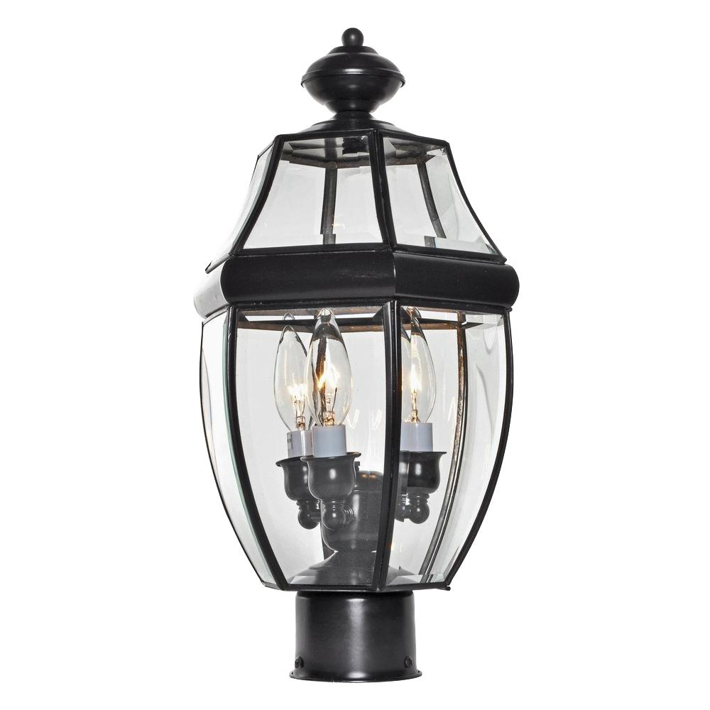 Maxim lighting south park 3 light burnished outdoor pole for Early american outdoor lighting