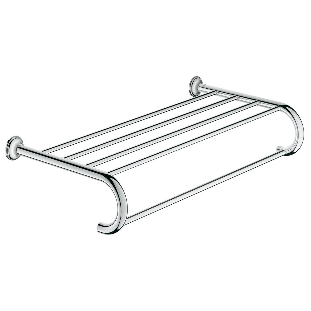 GROHE Essentials Authentic Towel Rack with 5 Towel Bars in StarLight ...