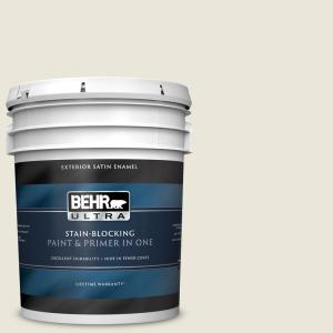 Behr Ultra 5 Gal Home Decorators Collection Hdc Sm16 01 Dried Coconut Satin Enamel Exterior Paint Primer 985005 The Home Depot