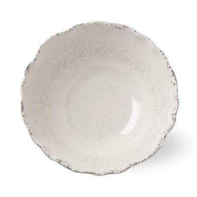 11.8 in. W x 11.8 in. L x 3.9 in. H Melamine Serving Bowl in Ivory