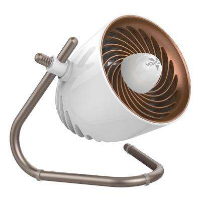 4 in. Pivot Personal Air Circulator, Copper