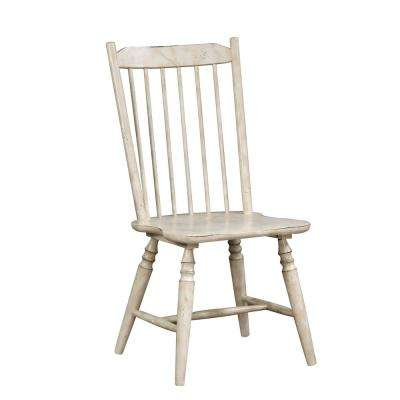 Dessie Antique White Wood Slat Side Chair (Set of 2)