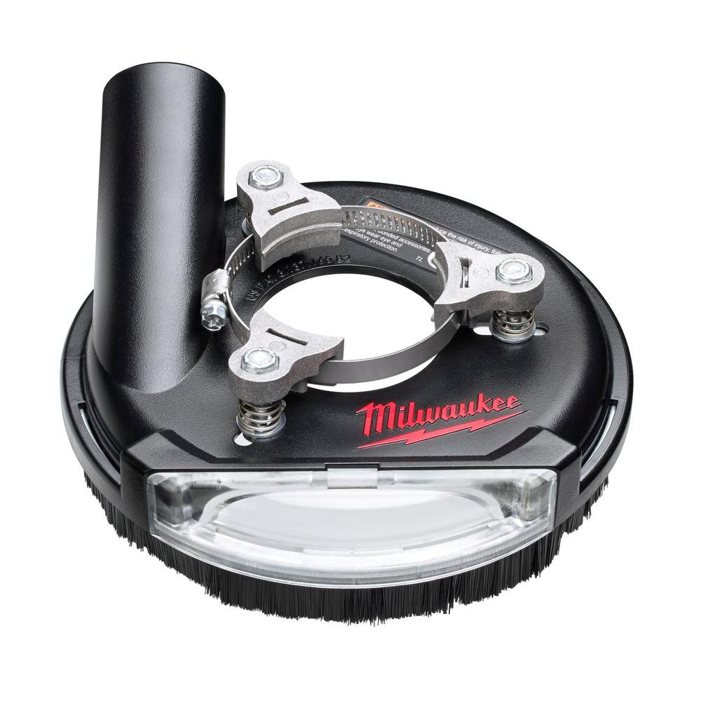 Milwaukee 4 In To 5 In Universal Surface Grinding Dust Shroud 49 40 6100 The Home Depot