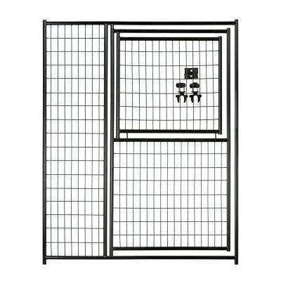 6 ft. H x 5 ft. W Black Welded Wire Modular Gate in Gate