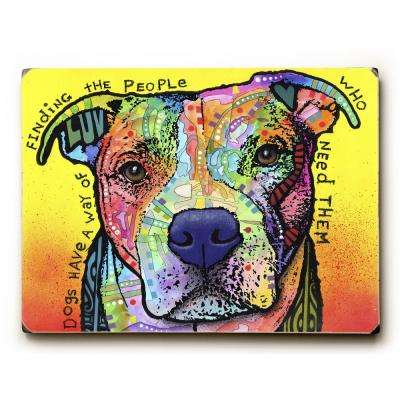 "9 in. x 12 in. ""Dogs Have a Way"" by Dean Russo Solid Wood Wall Art"