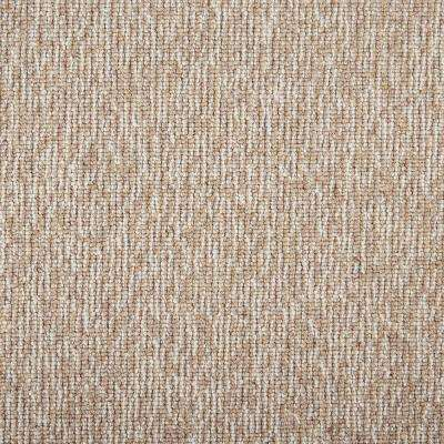 Tidal Tweed Sandstone Custom Area Rug with Pad