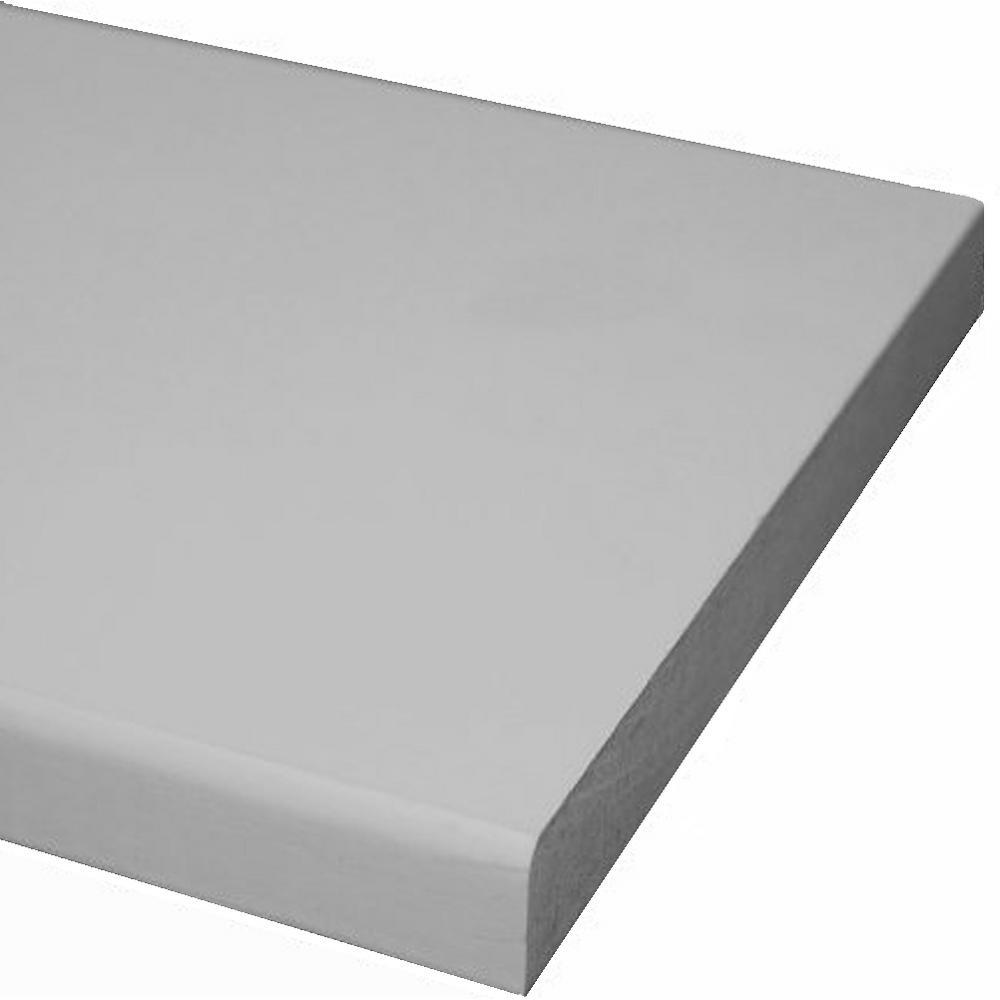 1 in. x 3 in. x 8 ft. Primed MDF Board (Common: 11/16 in. x 2-1/2 in. x 8 ft.)