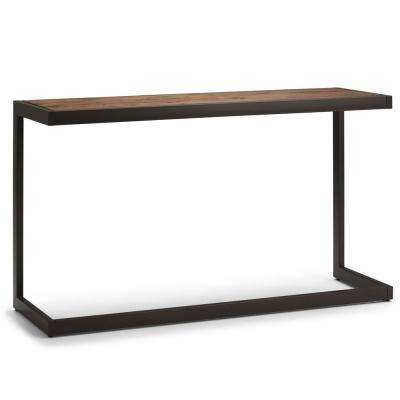 Erina Rustic Natural Aged Brown Console Sofa Table