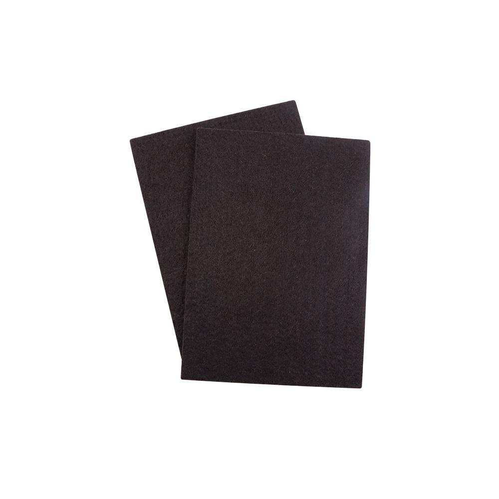 4-1/4 in. x 6 in. Heavy-Duty Self- Adhesive Brown Felt Blanket (2-Pack)